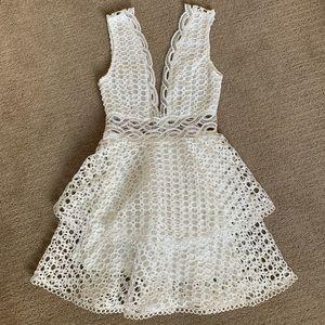 White crochet dress.